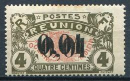 REUNION - N° 83 DOUBLE SURCHARGE , GOMME COLONIALE - * * - SUP - Ongebruikt