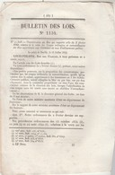 Bulletin Des Lois 1134 De 1844 Vente Bois Des Communes - Frais Plombage Sucres - Prorogation Tarifs Canaux - Décrets & Lois