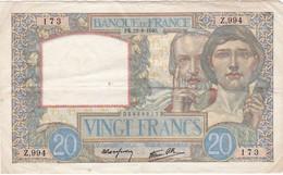 Billet De 20 Francs Année De Fabrication 1940 ?. Scan Recto Verso - 1871-1952 Antichi Franchi Circolanti Nel XX Secolo