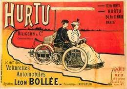 Publicite - Hurtu - Diligeon & Cie Constructeurs - Société Anonyme Des Voiturettes Automobiles - Système Léon Bollée - R - Pubblicitari