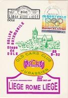 SPORT AUTOMOBILE  RALLYE - LIEGE -ROME - LIEGE  1992 - Rallyes
