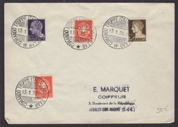 SARRE: Enveloppe Afrt 4 Timbres D'ITALIE Oblt COMANDO TRUPPE ITALIANE Nella SAAR > FRANCE - 1920-35 Saargebied -onder Volkenbond