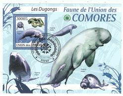 Dugong / Dugongs / BF Oblitéré / Union Des Comores - Mammifères Marins