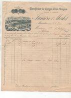 Mussidan (24 Dordogne) Facture Illustrée JUNIERE ET MERLET   Cierges Cires Bougies 1892 (PPP21485) - Francia