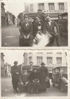 Lot De 2 Photos 84 Mm X 57 Mm - Malo-Les-Bains 59 - 1936 - Voiture - Restaurant - Jour De Braderie -  Scan R/V - Places