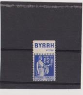 Type Paix 65c Byrrh Neuf** - Advertising