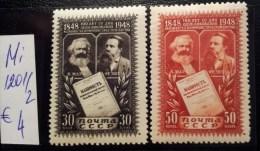 USSR/Russia 1948 Manifest  MNH MI:1201 -1202 - Ongebruikt