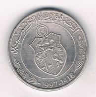 1/2 DINAR  1997 TUNESIE /694/ - Tunisie