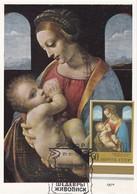 Carte Maximum Peinture Russie 1970 Léonard De Vinci - Cartoline Maximum