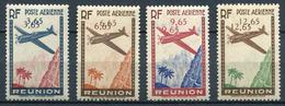 REUNION - PA N° 2c + 3 B + 4b + 5c , VALEURS DOUBLÉES, SIGNÉ J-F. BRUN - * * - LUXE - ENSEMBLE RARE - Réunion (1852-1975)