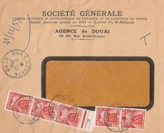 LETTRE NON AFFRANCHIE TAXÉE AVEC T 86 X 5 Le 31/12/59 DERNIER JOUR De L'ANCIEN FRANC - 1960-.... Briefe & Dokumente