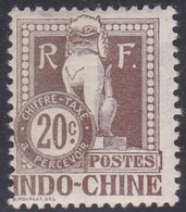 Indo-China, Scott #J10, Mint Hinged, Dragon From The Steps Of Angkor Wat, Issued 1908 - Indocina (1889-1945)