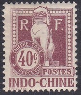 Indo-China, Scott #J12, Mint Hinged, Dragon From The Steps Of Angkor Wat, Issued 1908 - Indocina (1889-1945)