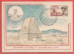 ALGERIE CARTE MAXI DE 1959 DE COLOMB BECHAR LECLERC - Algeria (1924-1962)