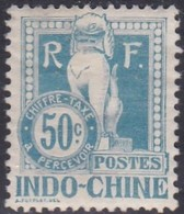 Indo-China, Scott #J13, Mint Hinged, Dragon From The Steps Of Angkor Wat, Issued 1908 - Indocina (1889-1945)