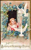 CPA  -   Bonne Et Heureuse Année  -  Embossée Ou Gaufrée  -  écrite  - - New Year