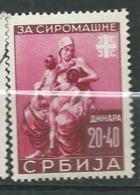 Serbie OCCUPATION ALLEMANDE Yvert   N° 67 ** -  Ad 40904 - Serbia