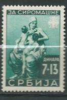 Serbie OCCUPATION ALLEMANDE Yvert   N° 66 ** -  Ad 40905 - Serbia