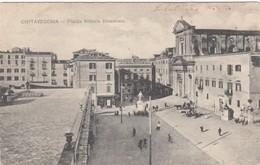 CIVITAVECCHIA-ROMA-PIAZZA VITTORIO EMANUELE-CARTOLINA VIAGGIATA 1915-1925 - Civitavecchia