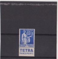 Type Paix 65c Tetra Neuf** - Advertising