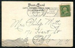 "5641 - USA - Ansichtskarte Merchants Bridge, St.Louis Mit Stempel ""World's Fair"" Nach Brooklyn (Ank.-Stempel) - Briefe U. Dokumente"