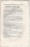 Bulletin Des Lois 1135 De 1844 - Sur Le Service Des Poudres à Feu En Algérie ( 7 Pages ) - Décrets & Lois