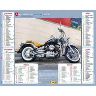 Calendrier Cartier Bresson Almanach La Poste PTT 2020 Motos Anciennes Vintage Harley-Davidson - Calendriers