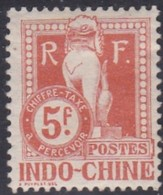 Indo-China, Scott #J17, Mint Hinged, Dragon From The Steps Of Angkor Wat, Issued 1908 - Indocina (1889-1945)