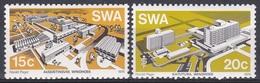 Südwestafrika SWA Namibia 1976 Architektur Architecture Bauwerke Buildings Katutura Krankenhaus Hospital, Mi. 423-4 ** - África Del Sudoeste (1923-1990)