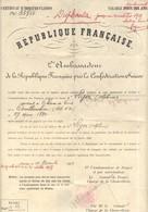 Certificat D'Immatriculation D'un Français Résident En Suisse 1909 - Ambassade De Berne - Duplicata - Vecchi Documenti