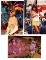 LOT DE 3 PHOTOS PIN UP FEMME EROTIQUE CARNAVAL DE NICE NU - Pin-up