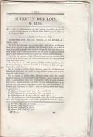 Bulletin Des Lois 1139 De 1844 - Crédit Pour Marine Et Colonies - Pont Sur L'Agne à Magnères Meurthe Avec Tarif Péage - Décrets & Lois