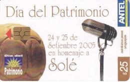 Nº 411 TARJETA DE URUGUAY DE ANTEL DEL DÍA DEL PATRIMONIO (FUTBOL-FOOTBALL) - Uruguay