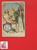 GESCHWISTER GREUEL COLN Chromo Allemande Egypte Femme Pyramides - Trade Cards