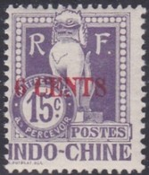 Indo-China, Scott #J22, Mint Hinged, Dragon From The Steps Of Angkor Wat Surcharged, Issued 1919 - Indocina (1889-1945)