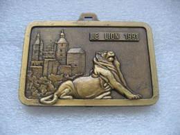 Médaille Du Lion De Belfort 1991 Et Sa Citadelle. Semi-marathon International Belfort-Montbeliard. FC Sochaux-Montbéliar - Obj. 'Herinnering Van'