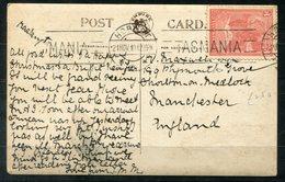 5648- AUSTRALIEN / TASMANIEN - Mi.18 Auf Postkarte Von Hobart Nach Manchester - 1853-1912 Tasmania
