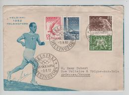 153PR/ Suomi/Finland Helsinki 1952 Helsingfors XV Olympia 3/8/52 > France Olympic Games - Sommer 1952: Helsinki