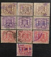 Sélection De 10 Timbres Télégraphe De 1949 - Telegrafi