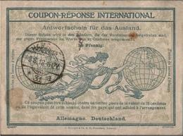 ! 1918 Hamburg , International Reply Coupon Coupon Reponse, Internationaler Antwortschein, UPU, Weltpostverein - Stamped Stationery