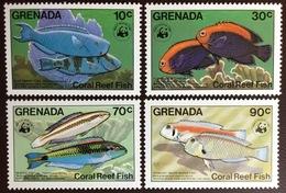 Grenada 1984 WWF Fish MNH - Peces