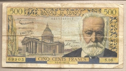 Francia - Banconota Circolata Da 500 Franchi P-133b - 1957 #17 - 1955-1959 Sovraccarichi In Nuovi Franchi