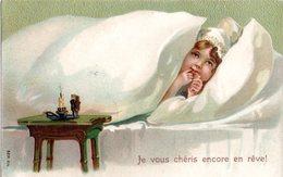 CPA  -  Aveu D'une Jeune Fille  - Embossée Ou Gaufrée  - écrite - Autres
