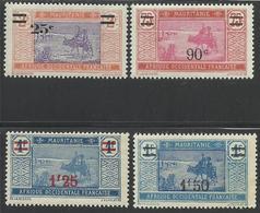 MAURITANIE 1926 YT 50/53** - Neufs