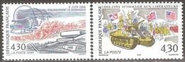France - 1994 - Débarquement Des Troupes Alliées En Normandie - YT 2887 Et 2888 Neufs Sans Charnière - MNH - France