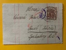 9955 - Feuille Pliée En Lettre 26.07.1920 Pour Basel - 1919-1939 République