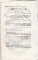 Bulletin Des Lois 1144 De 1844 Convention De Poste Entre France Et Belgique Changement Nom Merdier Merier - Décrets & Lois