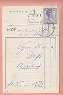 OLD POSTCARD -   NOTE - HOTEL ASTRID - ESCH SUR SURE - - Esch-sur-Sure