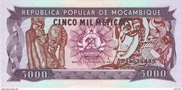 Mozambique P.133b 5000 Meticais 1989  Unc - Moçambique