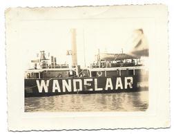 Bateau Phare Wandelaar 1935 (  Blankenberge ? Oostende ?) Photo 11x8,5 - Barche